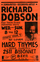 Hard Thymes poster featuring Richard Dobson