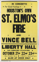 St. Elmo's Fire and Vince Bell at Liberty Hall