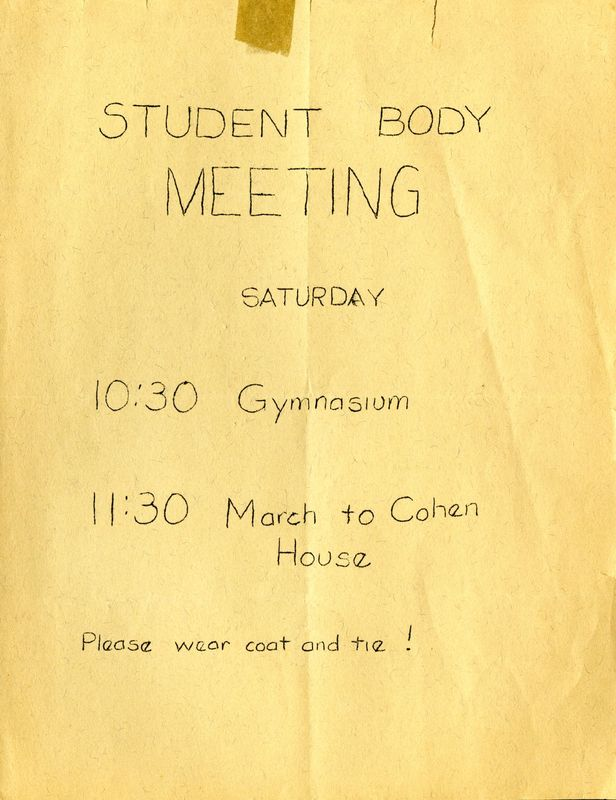 Student body meeting flyer<br />