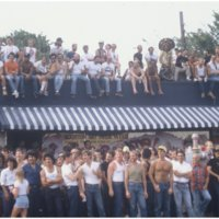 Group in front of Mary's bar in 1982