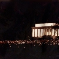 Candlelit Lincoln Memorial