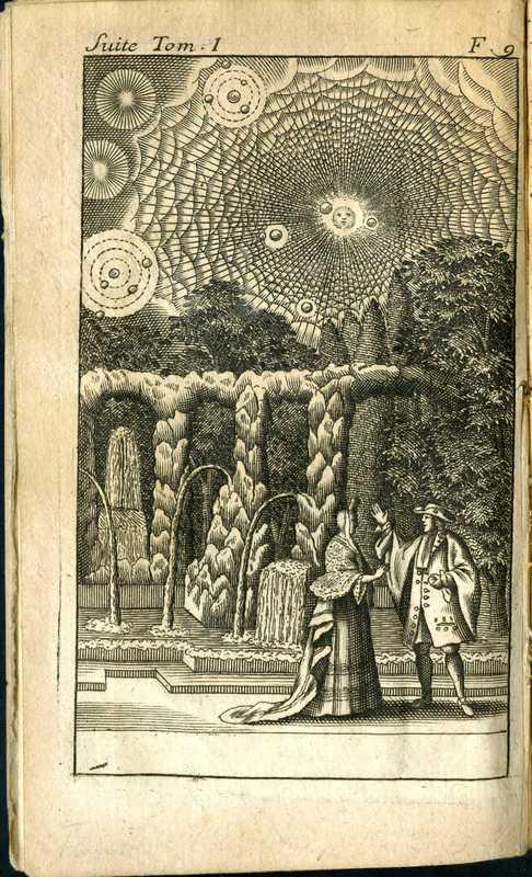 Entretiens sur la pluralit' des mondes , garden and sky<br />