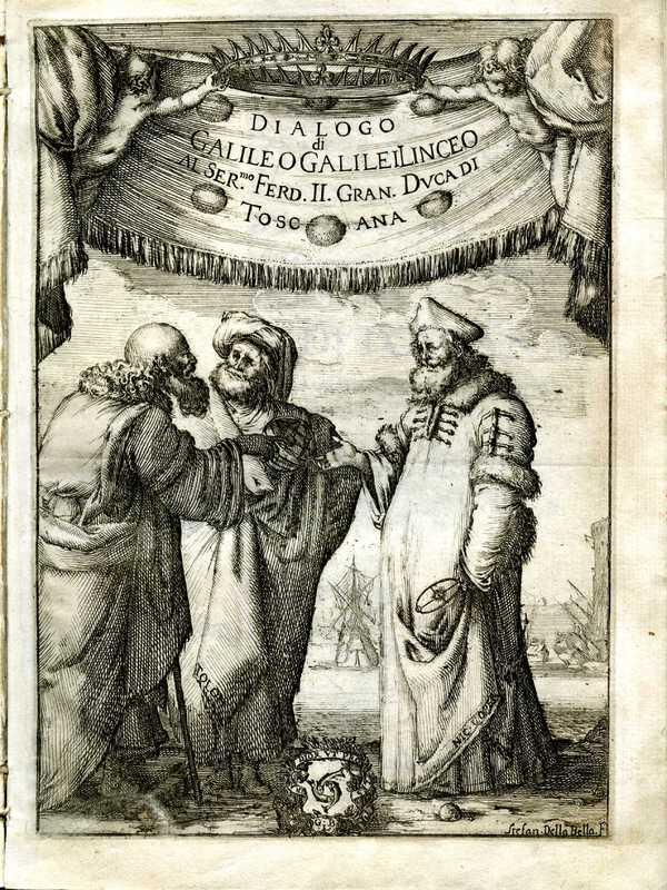 Dialogo di Galileo Galilei Linceo, frontispiece