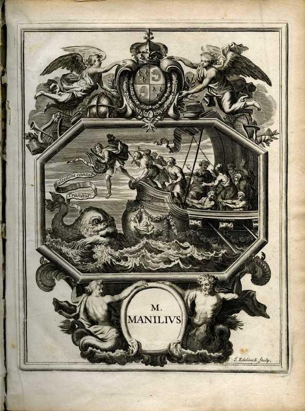 M. Manilii Astronomicon, pre-title page illustration