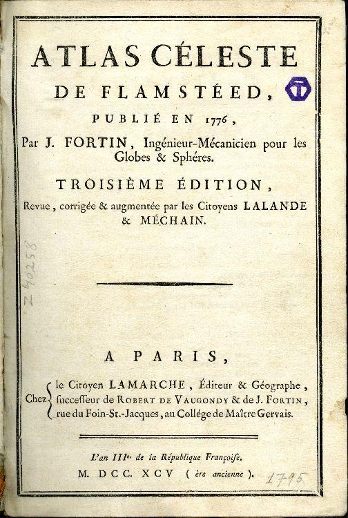 Atlas Celeste de Flamsteed, title page