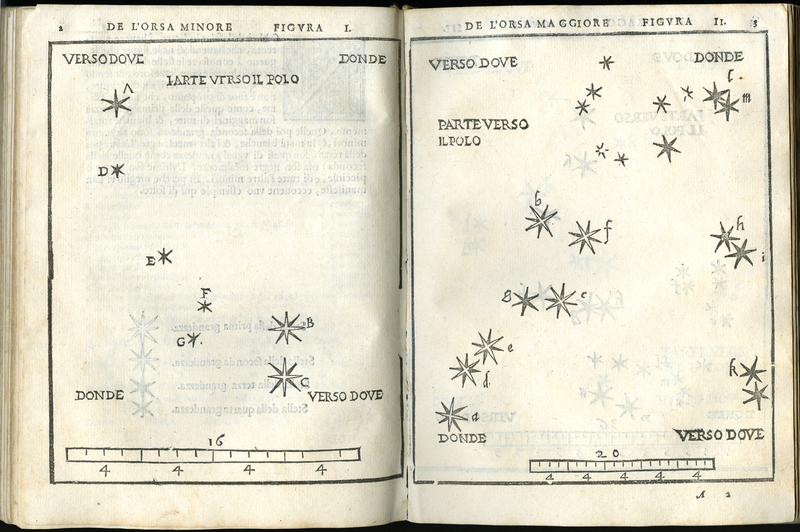 De le stelle fisse, star map