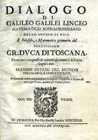 Dialogo di Galileo Galilei Linceo, title page